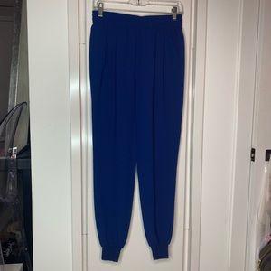 Joie colbalt blue elastic waist jogger pants